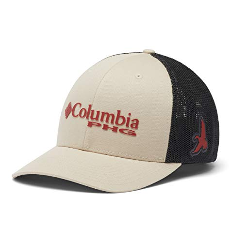 Columbia Men's Standard PHG Mesh Ball Cap, Fossil/red Oxide/Bird, Small/Medium