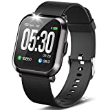 DoSmarter Fitness Watch, 1.3 Touch Screen Smartwatch with Heart Rate Blood Pressure Monitor, Waterproof Fitness Tracker with 10 Sport Modes, Step Calories Counter, and Sleep Tracking for Women Men