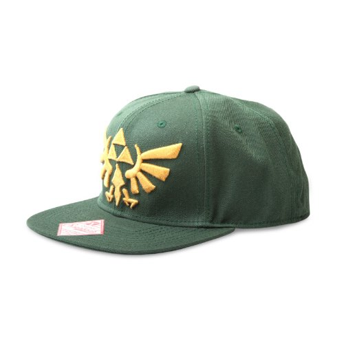 ZELDA Casquette 'Legend of Snap Back - Logo d'or - Vert