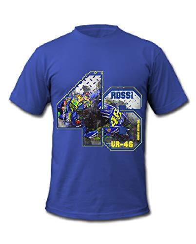 Cold Gun Valentino Rossi 46 MotoGP Racing Driver T-Shirt Gr. S, blau