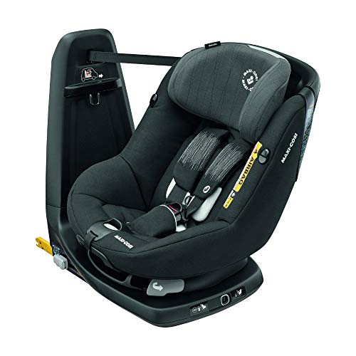 Bébé Confort Axissfix Plus Seggiolino Auto Isofix 0-18 kg, Girevole 360°, Reclinabile, ece R129 I-Size, per Bambini dai 0 a 4 Anni, Cuscino Riduttore, Frequency Black