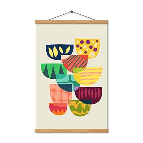 Modern, schattig, kleurrijk, schalen, decoratie, huis, kunstdruk, canvas, wand, kunst, graffiti, slaapkamer, decoratie, poster. 40x50 cm No Frame Hanging Axis