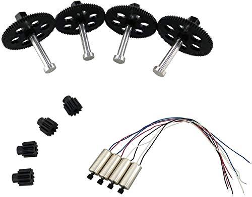 ZYGY 4 piezas de motor y 4 engranajes principales y 4 engranajes de motor para VISUO XS809W XS809HW XS809 XS809S Quadrotor RC accesorios de drones plegables