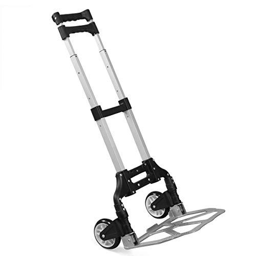 Yaheetech Sackkarre Alu Handkarre Transportkarre bis 80 kg Einkaufstrolley klappbar Alu-Karre