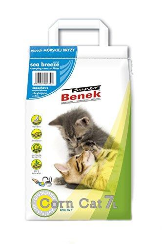 Super Benek Corn Cat Litière pour Chat Parfum Brise Marine