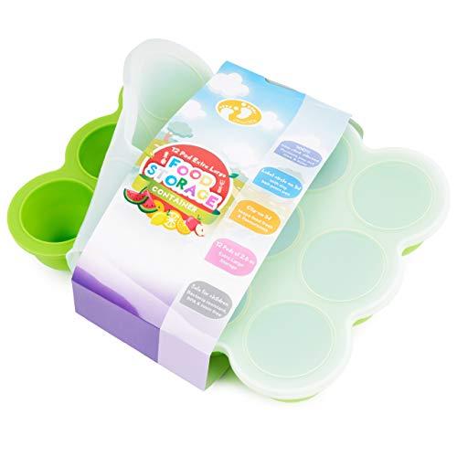 chuckle Recipientes Molde para Comida de Bebé con Tapa - 12 Porciones x75ml