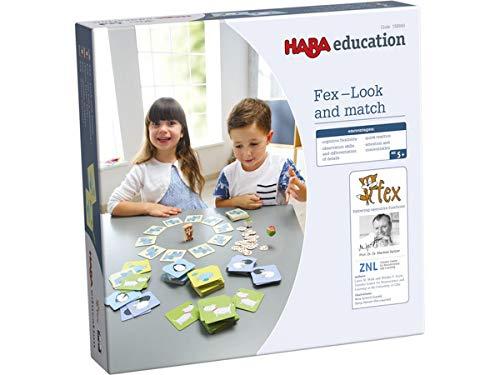 HABA 158.849 FEX - Schau und Verbinde Brettspiel für die visuelle Wahrnehmung, Lernkonzepte, für Kinder