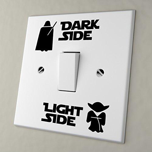 Star Wars Dark Side Light Side Light Switch Vinyl Aufkleber Wall Stickers
