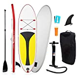 Set de tablas de surf para adultos Tablero de paletas SUP todo redondo Kit for principiantes con bomba de aire, paleta flotante de aluminio ajustable, kit de reparación, mochila de transporte Para pri