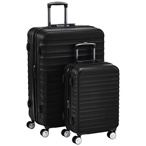 Amazon Basics Hardside Spinner Suitcase Luggage with Wheels - 20-Inch, 28-Inch, Black