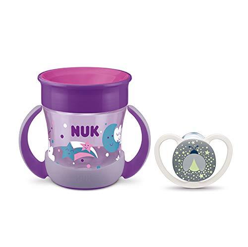 Packs Mini Magic Cup + Chupetes Space Night (Lila y Blanco)