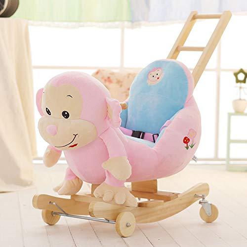 QIANG Baby Rocking Horse For 1-3 Year Old, Rocking Toy For Toddler, Kid Rocker, White Wooden Rocking Chair, Child Rocking Animal, Outdoor Animal Rocker, Girl/Boy Ride On Toy,J