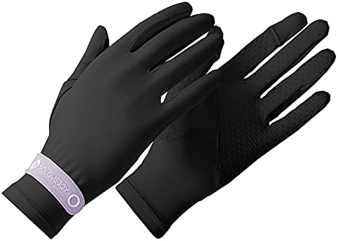 Unisex Sunblock Gloves Touchscreen, Sun Protective Cycling Glove, UPF 50+ UV Protection, Non-slip Ice Slik Breathable