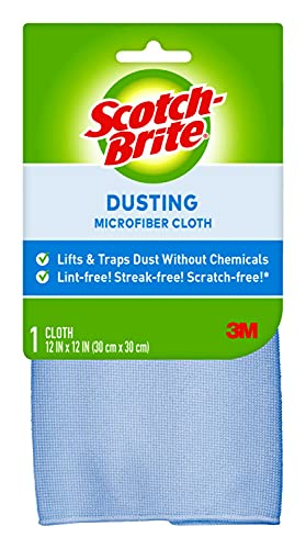 Product Image of the Scotch-Brite Microfiber Dusting Cloth, 12.5 in. x 14 in, 1/Pack