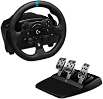 Logitech G923 Racing Wheel and Pedals for Xbox One and PC featuring TRUEFORCE up to 1000 Hz Force Feedback, Responsive...