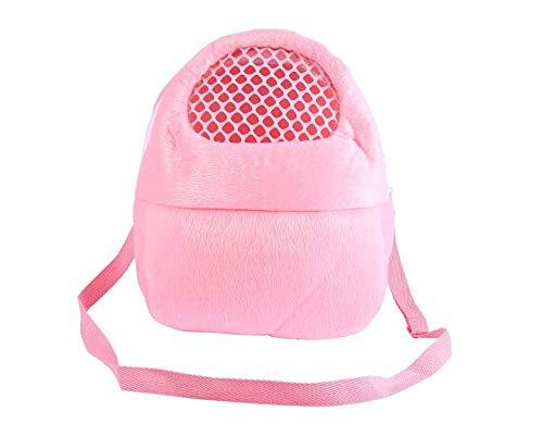 YUIP Hamstertasche, eerschweinchen Baumwollnest, Eichhörnchen Chinchilla Meerschweinchen Tasche, Mit Schultergurt, geeignet für kleines Haustier Igel Zucker Maus Eichhörnchen Kaninchen (rosa)