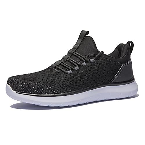 [WOTTE] スニーカー メンズ ウォーキングシューズ メッシュ 厚底 カジュアル 通気性 ランニングシューズ ニット 滑り止め 運動靴 普段履き