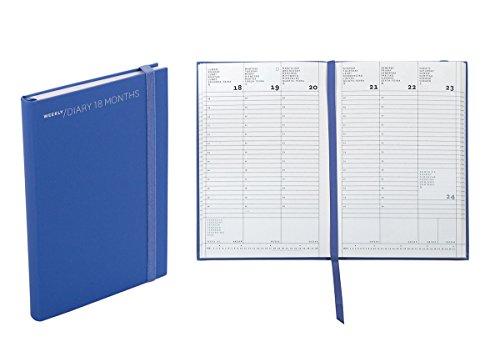 Agenda settimanale 18 mesi, cm 11 X 16,5 colore blue