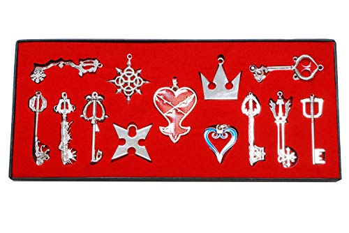 Xcoser Cosplay Keyblade Porte-clés Jeu Clés Anneau Sword Weapon pendentif Sora Collier Set Costume Accessoires gift Collection