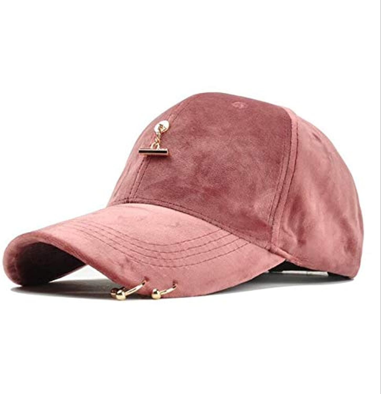 AAMOUSE Ring Women Baseball Cap Men Street Hip Hop Adjtable Suede Hats for Men Cap