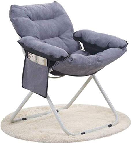 Maanstoel Klapstoel Nieuwe huidvriendelijke fluwelen thuisrecreatie Lounger Lazy Couch Chair Outdoor Portable Folding