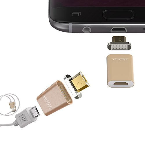 Urcover® Tech Magnetische Micro-USB Snap Adapter Charger Fast Charging compatibel met Android smartphones en tablets in Adattatore Android + Connettore Micro-USB champagne goud