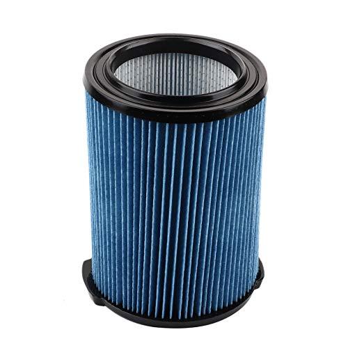 Filtro de vacío, diseño plisado de fresno, aspiradora de aire con ABS + carbón activado (azul + negro)