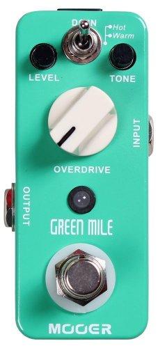 Mooer Green Mile, overdrive micro pedal, Sea Foam Green