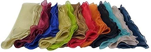 COTTON CRAFT Napkins - 12 Pack Organza Ruffle Napkins - Multicolor - Napkins Measure 20 inches by 20 inches - Our Napkins ...