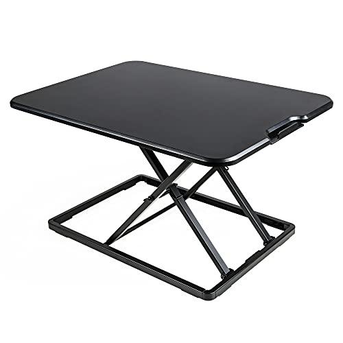 Edaygo Mesa Elevación de Escritorio Extensible para Ordenador o Trabajo Informático de Pie, Ergonómica, Altura Regulable en 6 Niveles, Carga Hasta 8 kg, 67 x 47 cm, Color Negro