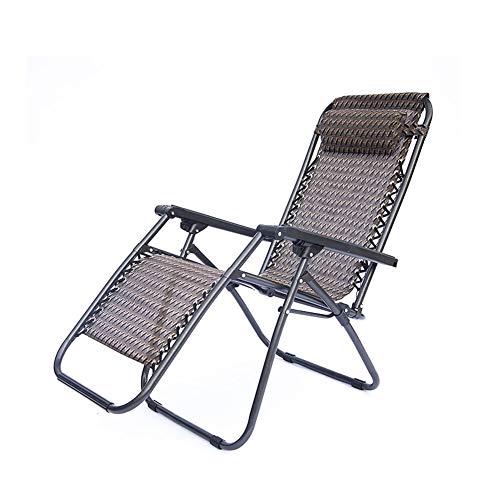 CZX Tumbonas reclinables en Negro | Sillas reclinables Plegables para jardín y Patio | Diseño Resistente con Bandeja portavasos de Gravedad Cero