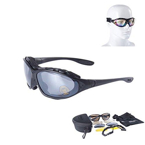 Daisy C4 taktische Militär-Schutzbrille, winddicht und spiegelnd, für Airsoft und Paintball, Outdoorbrille für Jagd, Wüste, Sturm
