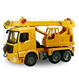 HXGL-Drum Manuale Sliding Engineering Vehicle Boom Gru Engineering Model Toy Car Children's Car, Gioca a Collection Ornaments