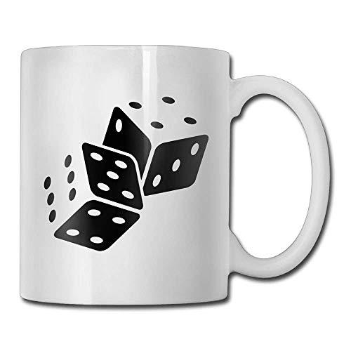 N\A Taza de Doble Cara Dados Taza de café Personalizada Mujer Taza de té