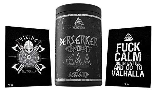 Limited Edition Berserker Energy EAA Essential Amino Acid Amino Acid Amino Acido Pura, 500 g, con due cartoline (Cherry)
