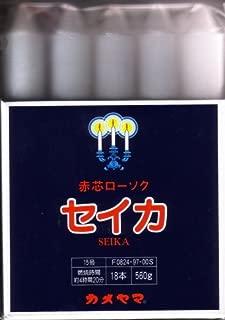 カメヤマ セイカ 聖火印 15号 角袋 560g(18本入) 袋詰めした色芯ローソク×30点セット (4901435082493)