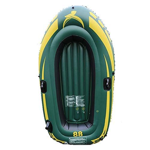GUOE-YKGM Kayak Schlauchboot Faltkajak Outdoor Beiboot Komfortable Kajak Freizeit Faltboot 1-2 Personen Schlauchboot Marine Sport Angeln Abenteuer Dicke PVC Kunststoff 190 * 98 * 32 cm Grün