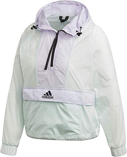 adidas W Cropped W.Rdy Chaqueta de Deporte, Mujer, Dash Green/Purple Tint, S