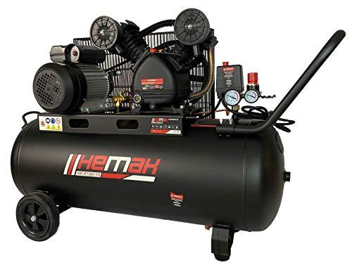 HEMAK HK-R100/10 Kompressor Riemenantrieb 100 l 10 Bar Druckluft-Kompressor