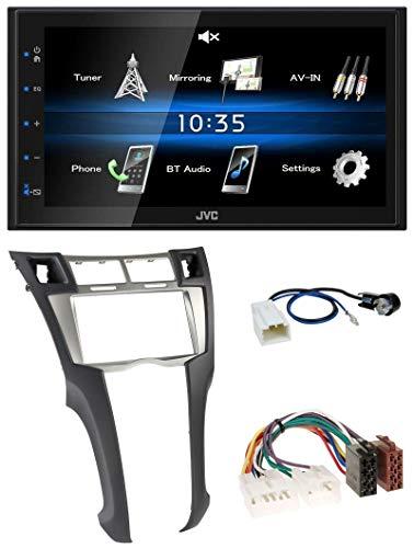 caraudio24 JVC KW-M24BT 2DIN Bluetooth MP3 AUX USB Autoradio für Toyota Yaris (2007-2011)