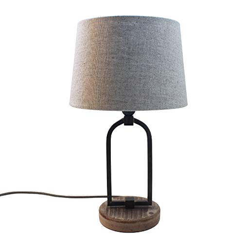 Lamp for Less Tischleuchte Classic, Tischlampe mit Schirm in beige, klassisch dezentes Vintage Design, EEK A++, 44cm