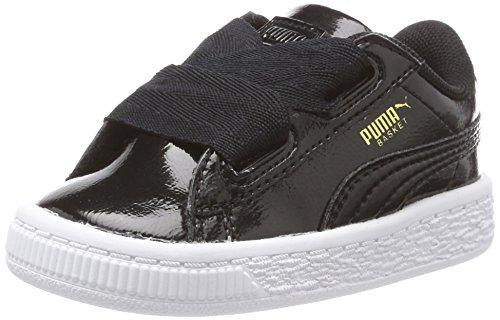 Puma Basket Heart Glam Inf, Zapatillas Unisex Niños, Negro (Black-Black), 27 EU