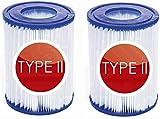 Mscomft Cartucho de filtro tipo II, para cartuchos de filtro Bestway, para piscina, bombas, para Intex, tamaño II, tamaño 11.17 x 13.35 cm (2 unidades)