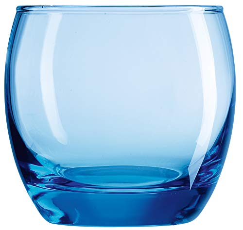 Arcoroc ARC C9688 Salto Ice Blue - Vaso de whisky (320 ml, 6 unidades), transparente