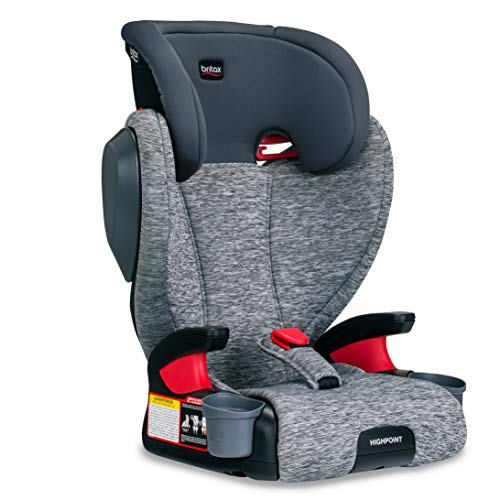 Britax Highpoint 2Stage BeltPositioning Booster Car Seat  Highback and Backless  3 Layer Impact Protection  40 to 120 Pounds Asher
