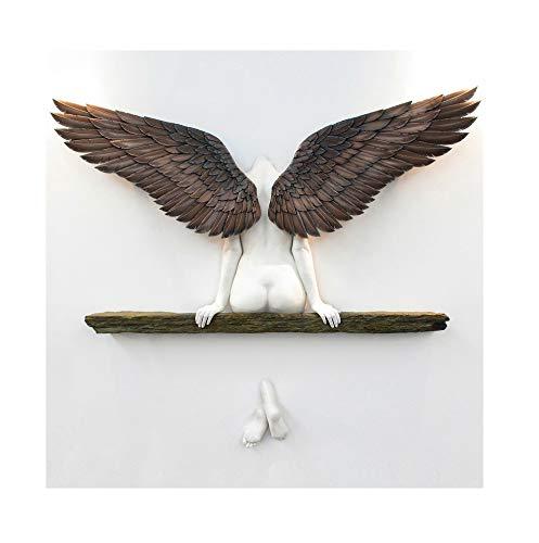 Detrade Hatte eine Schwester Engel Kunst Skulptur Wanddekoration - 3D Engel Kunst Statue Dekor, Home Art Figur für Wohnzimmer, Schlafzimmer