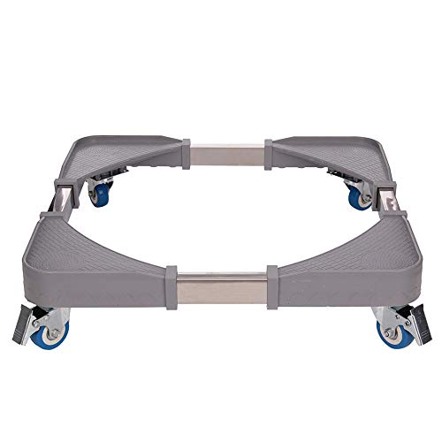MultiWare Support pour Machine à Laver Réglable en Hauteur Chariot à Roulettes Base en Plastique Durable Charge 150KG