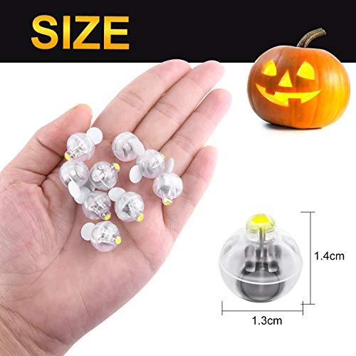 FEPITO 20 Pz LED Palloncini Luci Lanterne Luci Luce Gialla Calda Non Lampeggiante per la Decorazione della Festa Nuziale di Halloween