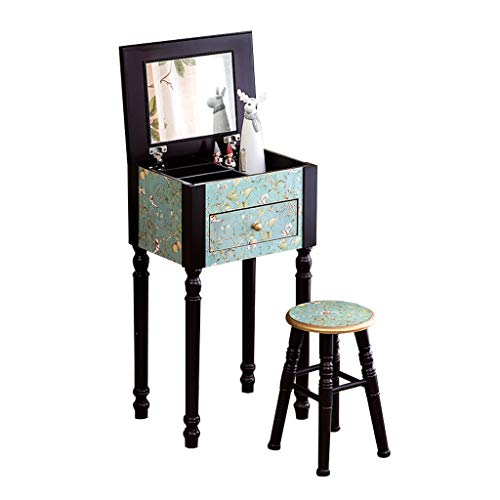 Buy Xuyuanjiashop Vanity Table American Country Dressing Table, Multi-Functional Small Dressing Tabl...