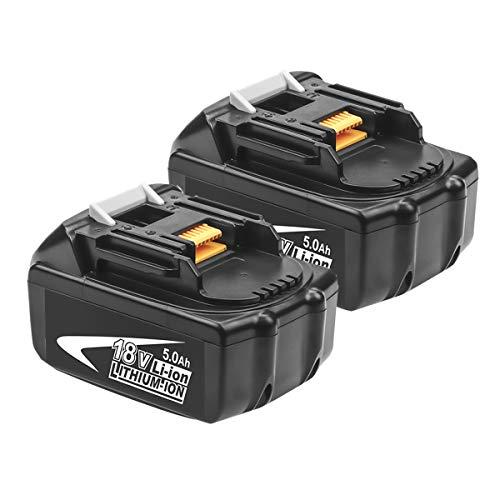 2X Batería de Repuesto 18V 5.0 Ah para Makita Batería B BL1860 BL1850 BL1845 BL1840 BL1830 BL1825 BL1820 BL1815 LXT-400 Herramientas Eléctricas